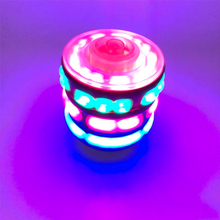 цена на 1pcs Interesting gyroscope flash gyro colorful LED Light Spinning Top Music Gyroscope Kids Toys for children
