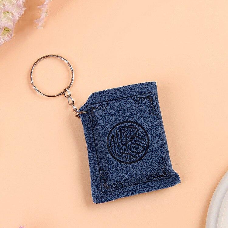 Image 3 - Mini Islamic Muslim Ark Quran Book Key Chain Ring Car Bag Purse  Real Paper Can Read Pendant Charm Muslim JewelryKey Chains   -