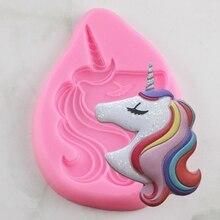 New Unicorn Shape Cake Mold Fondant Cake