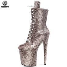 Jialuowei/Танцевальная обувь на высоком каблуке 20 см; Пикантные