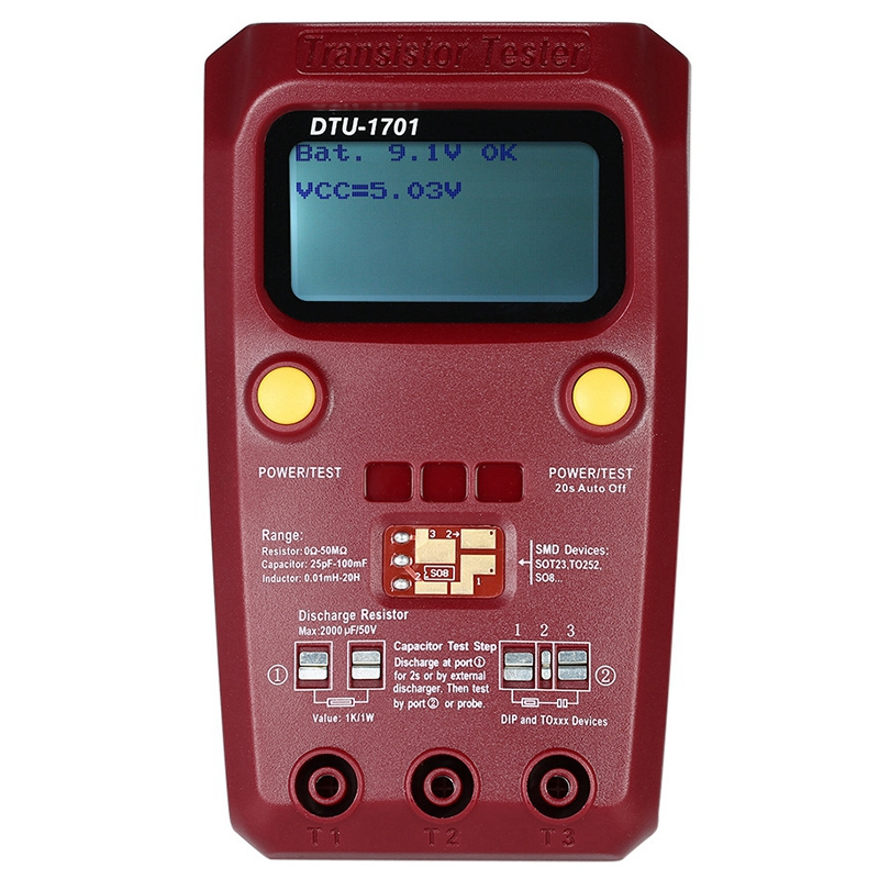 Digital Multimeter Transistor Tester Megger Insulation Tester Resistance Inductance Capacitance ESR Meter <font><b>DTU</b></font>-<font><b>1701</b></font> CNIM Hot image
