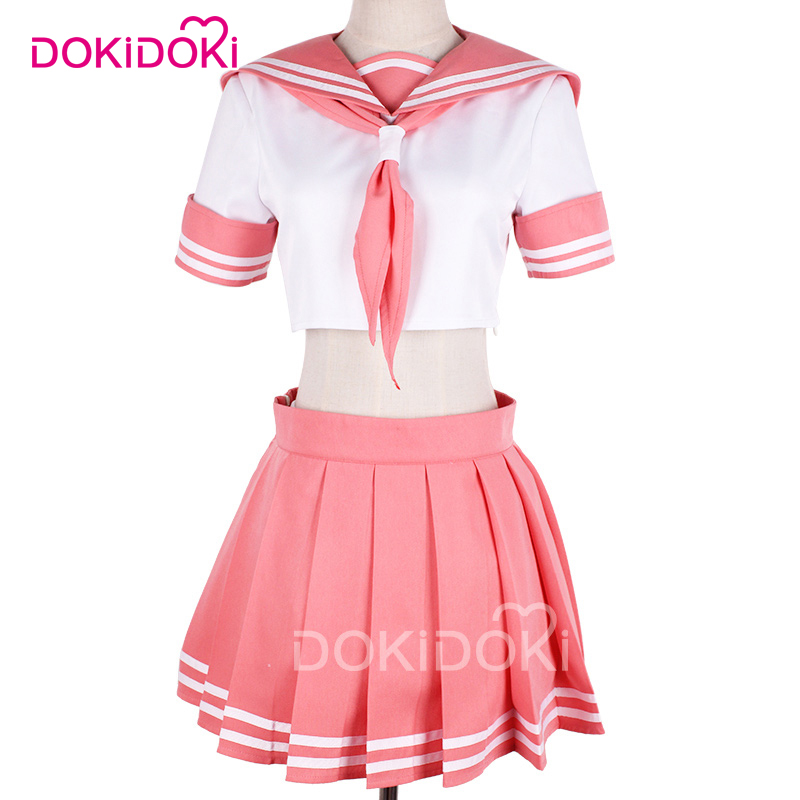 DokiDoki DokiDoki Fate Apocrypha Astolfo Cosplay Costume Anime Game Fate Cosplay Astolfo Sailor Uniform Women Cute Pink Dress in Game Costumes from Novelty Special Use