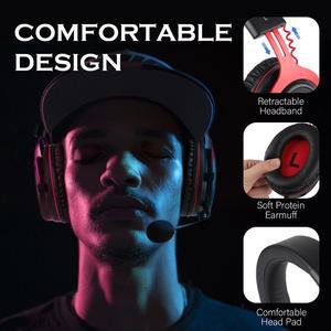 Image 5 - Casque de jeu EKSA casque de joueur filaire 3.5mm sur casque doreille avec micro antibruit pour contrôleur PC/Xbox/PS4