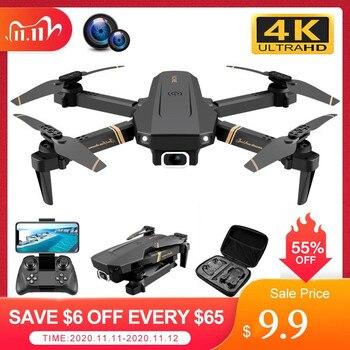 алиэкспресс в рублях каталог, Дрон 4k HD широкоугольная камера 1080P WiFi fpv Дрон двойная камера Квадрокоптер передача в реальном времени вертолет игрушки