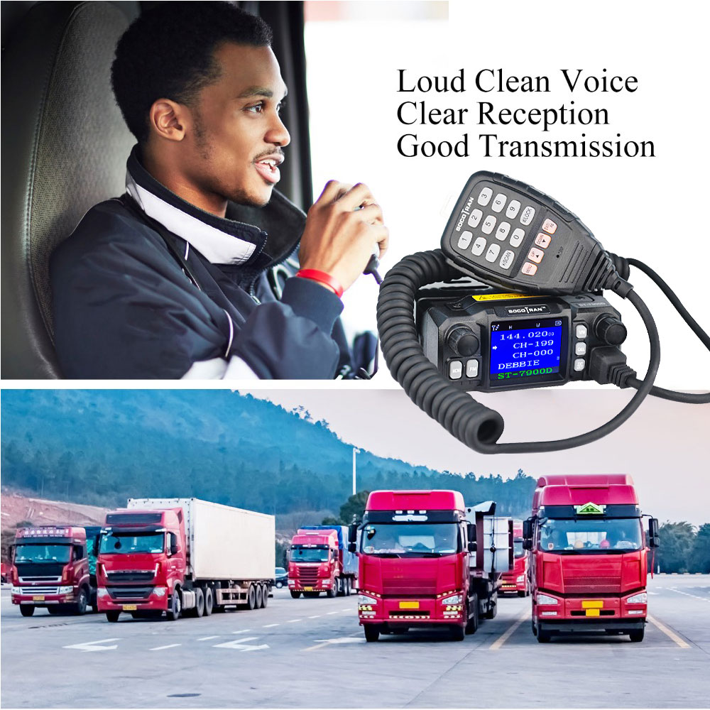 Mobile Ham Car Radio Amateur Radio Vehicle Transceiver Quad-Standby Quad Band UHF VHF Radio 25W Walkie Talkie 10 KM Color Screen