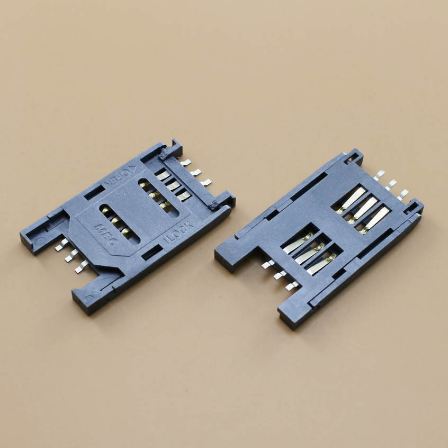 10pcs/lot SIM Card Seat Flip-over Plastic Card Seat SIM Slot 6P Communication Card Base