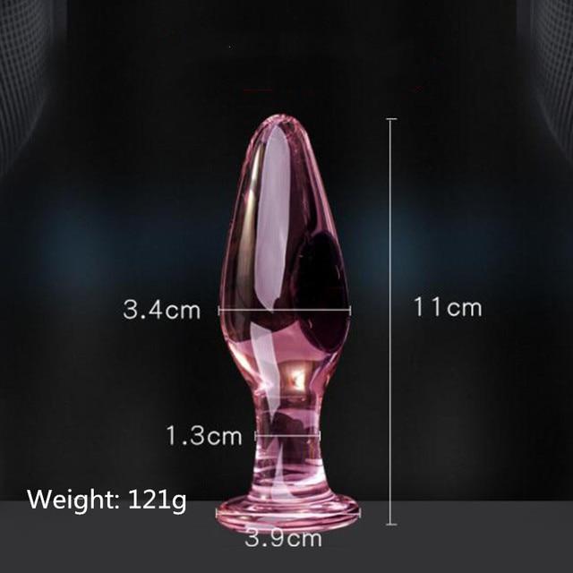 Long glass anal plug