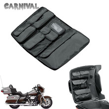 For Harley Glide Touring Street GLIDE FLHX Road King FLHR Black Tour Pak Motorcycle Storage Box Cover Storage Bag 2014-2020 motorcycle tour pak rear speaker for harley touring street glide road king 2014 2015 2016 2017 page 1