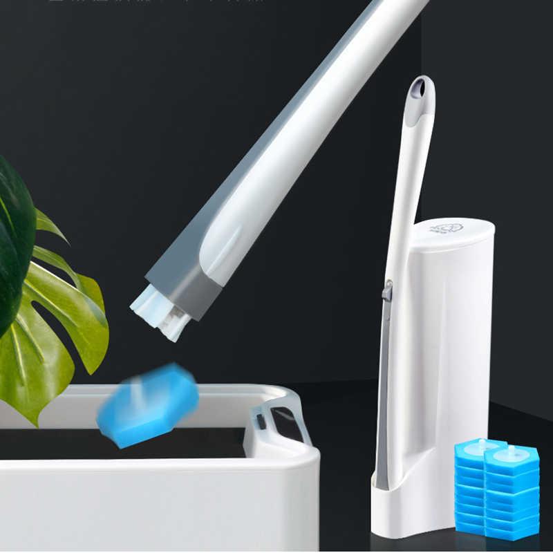 GESEW jednorazowe toaleta szczotka do sterylizacji tkaniny wszystkich aspektów bez martwego kąta zestaw do czyszczenia wc szczotka do czyszczenia narzędzi łazienka zestaw