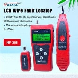 Probador de cable de monitoreo de red LCD localizador de fallas de cable de NF-308 red LAN Coacial BNC USB RJ45 RJ11 color rojo NF_308