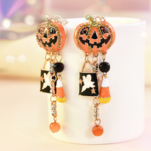 2019 New Fashion Women Halloween Party Pumpkin Ghost Pair Ear Stud Dangle Hoop Drop Earrings Jewelry Wholesale