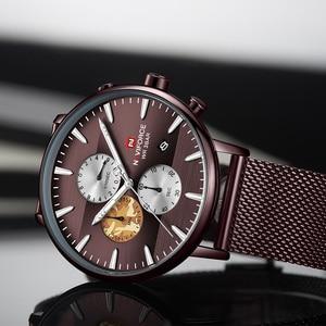 Image 4 - NAVIFORCE Top Luxury Brand Mens Business Quartz Watch Men Stainless Steel Waterproof Mens Watches Chronograph Date Male Clock
