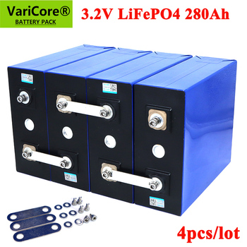 4PCS VariCore 3.2V 280Ah lifepo4 battery DIY 12V 24v 280AH Rechargeable battery pack for Electric car RV Solar Energy Tax Free 1