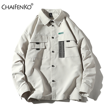 цена на CHAIFENKO Men Casual Tooling Jacket Spring Autumn 2020 New Fashion Vintage Jackets Street Slim Button Windbreaker Jacket Men