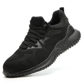 Europejski Standard stalowe Toe buty robocze bhp budowa stalowe buty z palcami bezpieczeństwo antypoślizgowe męskie buty odporne na przebicie obuwie robocze tanie i dobre opinie piyalodocpe Pracy i bezpieczeństwa Mesh (air mesh) ANKLE Stałe Okrągły nosek RUBBER Wiosna jesień Mieszkanie (≤1cm)