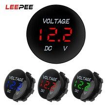 Voltage-Meter-Tester Ammete Digital-Voltmeter Led-Display Motorcycle Auto Mini DC 12V-24V