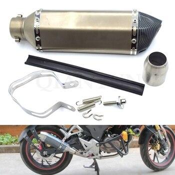 Universal 38-51mm Modified Motorcycle Exhaust Pipe escape Muffler for Suzuki GSX1400 GSF650 GSX650F GSX1250 F/SA GSXR1300 K4 K5
