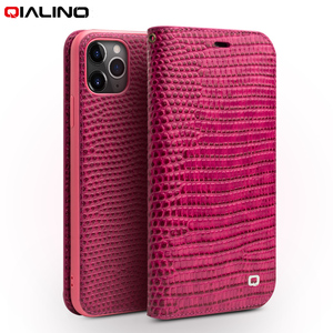 Image 1 - QIALINO Luxury Genuine Leather Cover for Apple iPhone 11 Pro Max Protective Case with Card Slot for Women for iPhone 11 Pro