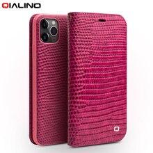 QIALINO Luxus Echtem Leder Abdeckung für Apple iPhone 11 Pro Max Schutzhülle mit Karte Slot für Frauen für iPhone 11 Pro