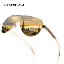 XINGYU Shield Sunglasses Men Polarized Vintage Sun Glasses F