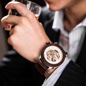 Image 3 - relogio masculino BOBO BIRD Watch Men Automatic Mechanical Watches Wood Vintage Big Size Mens Gift Wristwatch reloj hombre