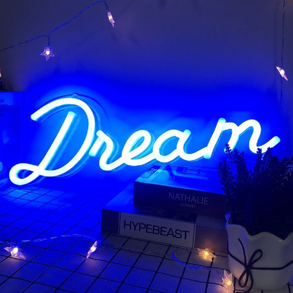 Easy Mounting Flex Neon Strip With Acrylic Back Panel Blue Outdoor Neon Signs Light Signs For Wall