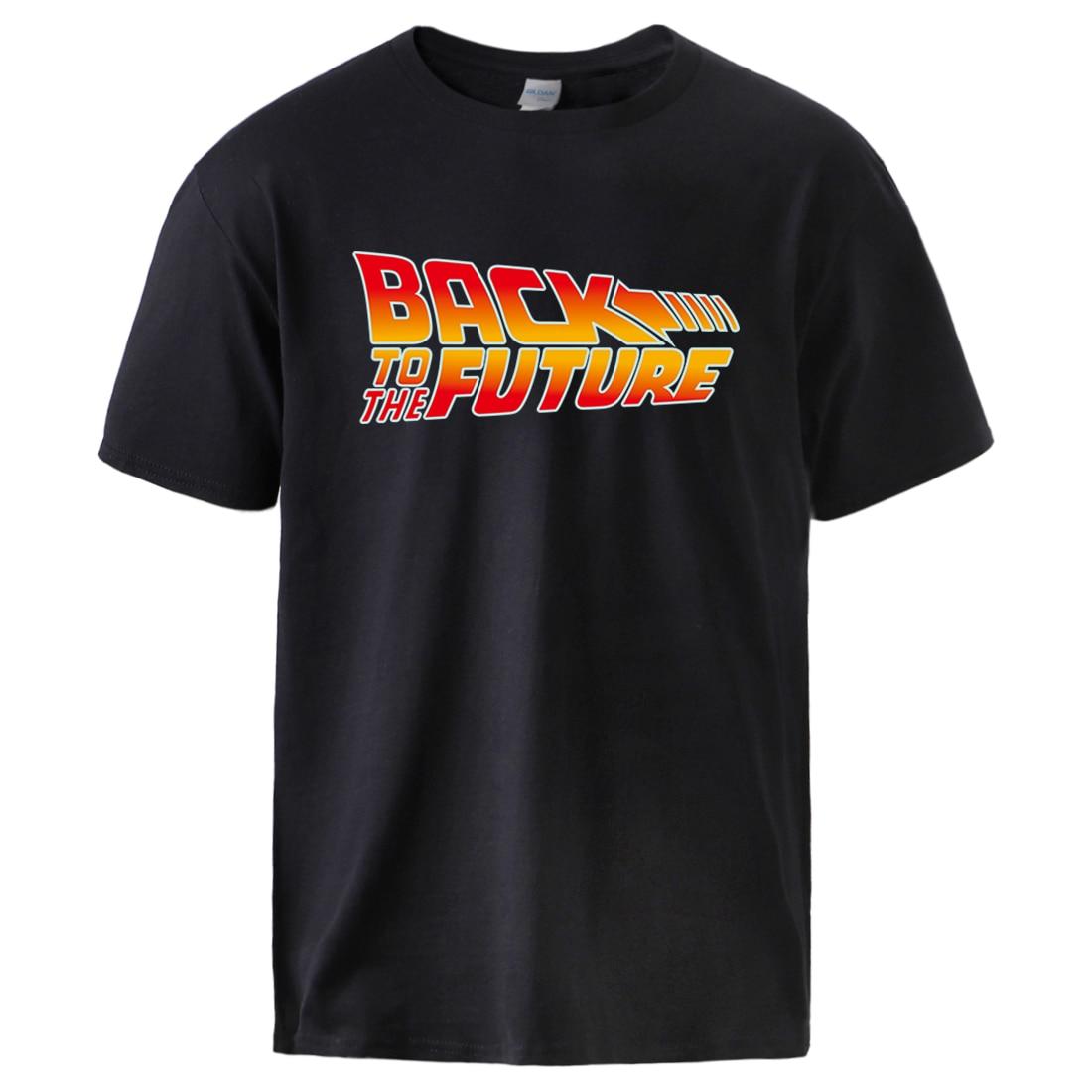 Back To The Future Print Mens T Shirts 2020 Summer High Quality Cotton Tshirts Man Hot Sell Brand Hip Hop Fashion Sportswear Top