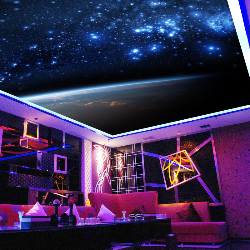 Stereo 3D Cool Hotel KTV Wallpaper Universe Nebula Starry Wallpaper Ceiling Mural Space Wallpaper