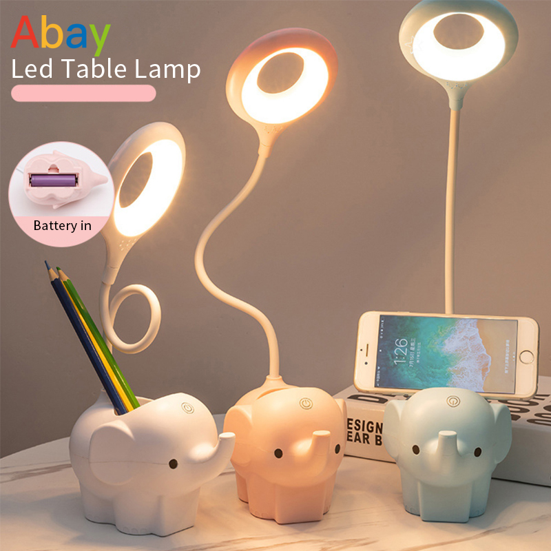 LED Desk Lamp Foldable Dimmable Touch Table Lamp USB Office Table Light Eye-protect Study Lamp Home Bed Side Night Reading Light
