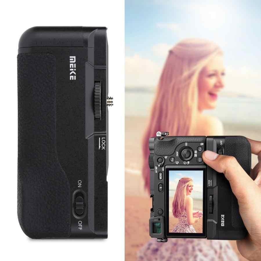 Đế Pin Meike Pin Máy Ảnh Cầm Cho Sony A6300/A6000 DSLR Bộ Điều Khiển Máy Ảnh DSLR Phụ Kiện Chuyên Nghiệp Thay Thế Đứng Pin