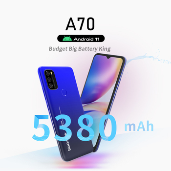 Blackview A70 Smartphone 3GB+32GB Octa Core Android 11 Cellphone 13MP Rear Camera 6.517'' Waterdrop 5380mAh 4G LTE Mobile Phone 2