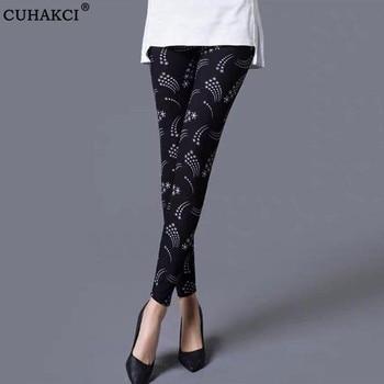 CUHAKCI Female Workout Slim High Waist Elastic Sexy Pants Women Leggings Print Stretchy Fitness Gym Leggins Plus Size Trousers 1