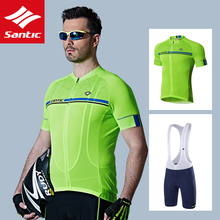 Bib-Suit Jersey Bicycle-Clothes Cycling-Set Ciclismo Racing-Maillot SANTIC Quick-Step
