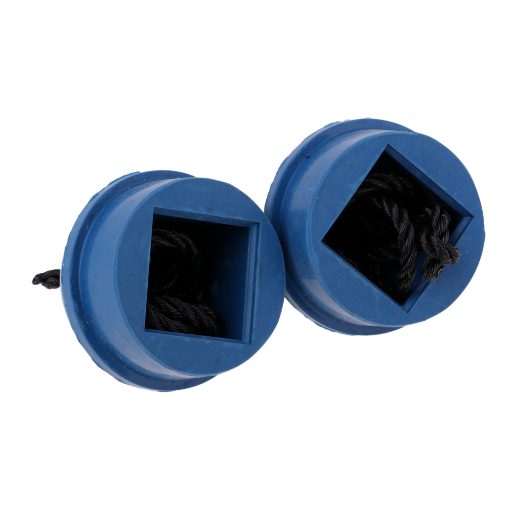 2Pc Blue Rubber Cue Chalk Grip Cord Billiards Pool Table Chalk Holder /& Cord