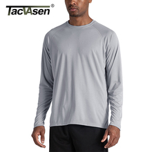 TACVASEN männer Sonnenschutz T shirts Sommer UPF 50 + Langarm Leistung Schnell Trocken Atmungsaktive Wanderung Fisch T shirts UV beweis