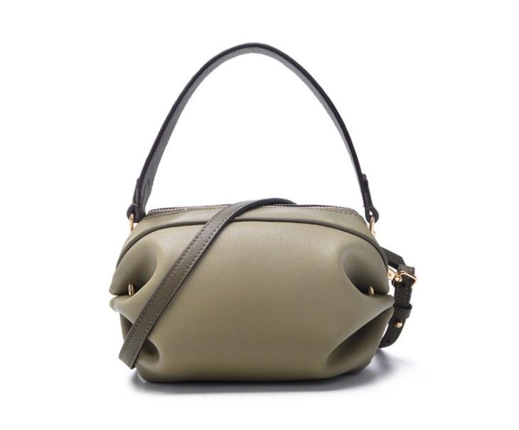 2019 nieuwe stijl split lederen vrouwen kleine handtas met lange riem crossbody tassen - 4