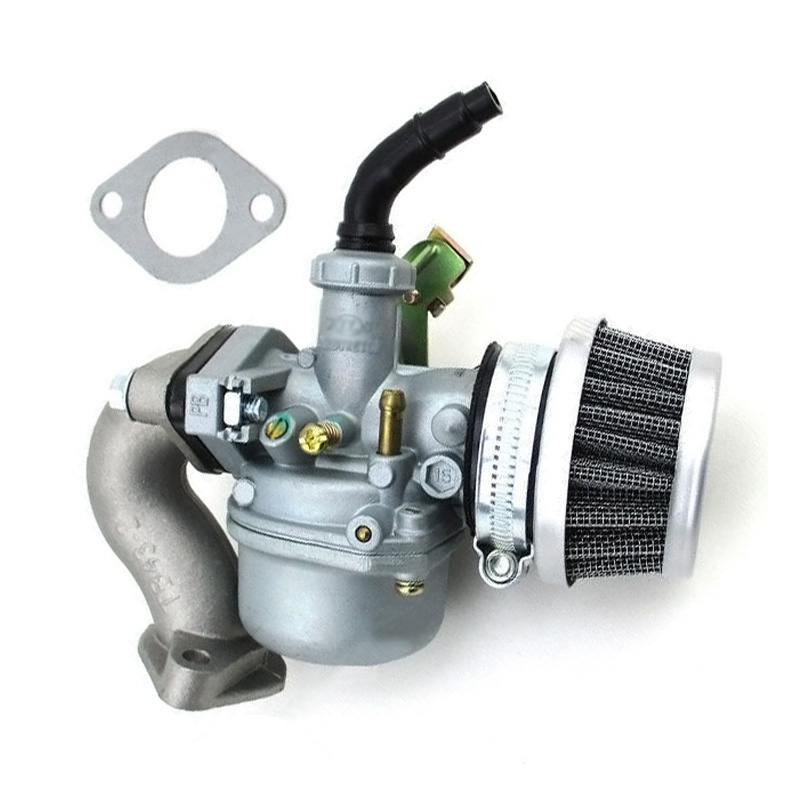 1 Set PZ19 Lever <font><b>Carburetor</b></font> Air Filter Intake Pipe For China 50cc <font><b>70cc</b></font> 90cc 110cc ATV Quad Go-Kart Taotao Sunl ATV <font><b>Carburetor</b></font> image