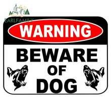 EARLFAMILY 13cm x 9.7cm avvertenza attenzione al segnale di sicurezza del cane attacco animale domestico recinzione cortile adesivo adesivi per auto personalizzati