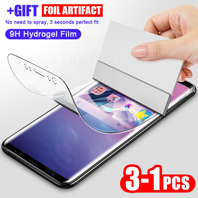 3Pcs Screen Protector For Samsung S9 S8 S10 Plus S10E S7 Edge Hydrogel Film For Galaxy Note 10 Plus 9 8 Full Soft Film Not Glass