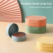Curso portátil selado à prova dwith água saboneteira com tampa casa bancada caixa de sabão prato esponja sabão titular caixa de sabão do banheiro accessor