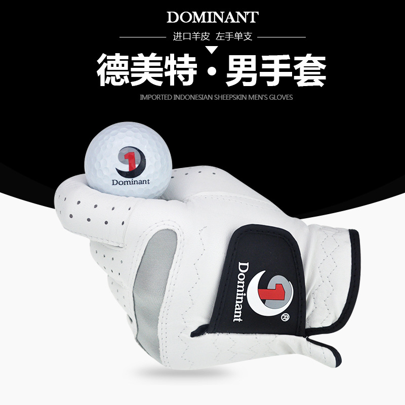 Genuine Product Dominant Men Golf Gloves Men's Indonesia Small Sheepskin All Sheepskin Left Hand Special Offer New Style