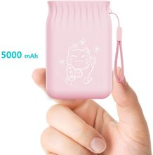 Pink Power Bank 5000mAh Slim USB Mobile Phone External Battery Fast Charge For iphone xiaomi Portabler mini PowerBank with bags