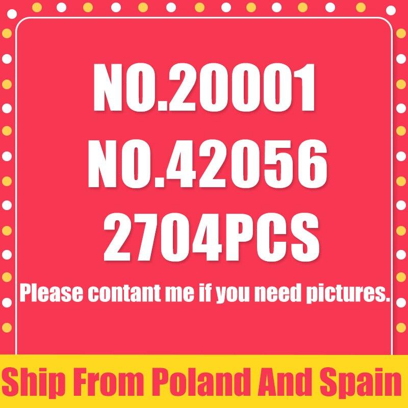 سفينة من اسبانيا تكنيك 20001 20001B المتسابق سوبر سباق سيارة الفني 2758 قطعة ألعاب مكعبات البناء هدية متوافق مع 42056-في حواجز من الألعاب والهوايات على  مجموعة 1
