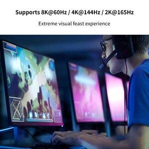 Image 4 - Cabo dp 1.4 144hz 8k/60hz, porta de exibição para porta de exibição 4kx2k/144hz hdr dp 1.2g sincronização e freesync