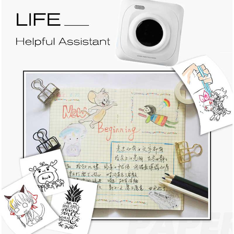 ポータブル bluetooth サーマルプリンタミニポケット携帯 ios アンドロイド携帯 paperang ための写真機