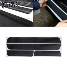QILEJVS 4 Pcs Car Door Scuff Sill Plates Step Plate Protector Carbon Sticker For Chevrolet Cruze Sedan #1