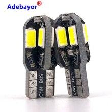 200 sztuk wysokiej jakości T10 LED Canbus nie błąd W5W 8 SMD 5730 Led 8SMD 5630 światła samochodowe LED samochodowa lampa klinowa żarówka do światła postojowego 12V biały