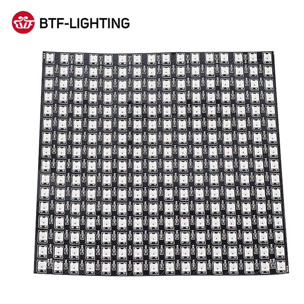 WS2812B RGB Flexible 16x16 Pixel Panel Matrix Bildschirm WS2812B ECO Led-modul WS2812 IC Einzeln Adressierbaren DC5V