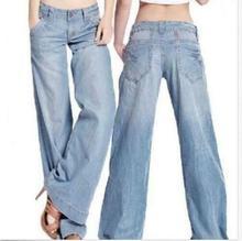 Damskie spodnie jeansowe denim spodnie szerokie nogawki luźny krój spodnie Plus kaszmir tanie tanio COTTON Poliester Pełnej długości Streetwear Niskie Zipper fly Spodnie pochodni REGULAR Blue Mid-Rise 75 Cotton 23 fiber 2 other