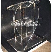 Прозрачный акриловый Подиум в форме сердца спереди, оргстекло